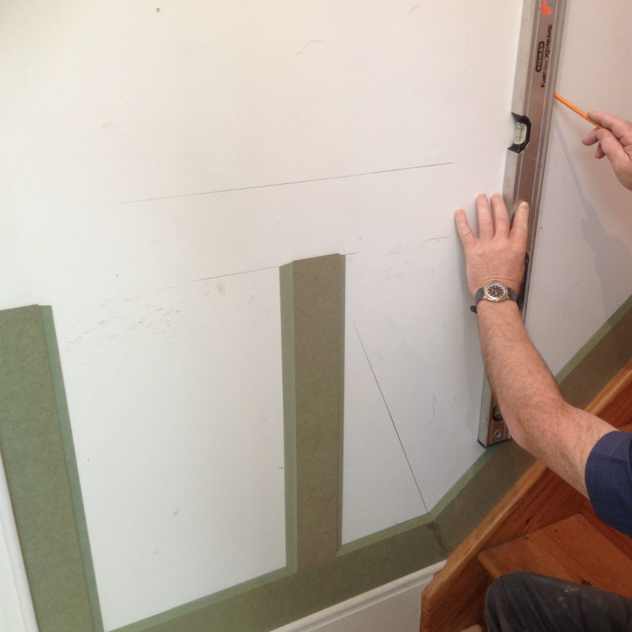 Raised Wall Panelling Kit For Stairs 2