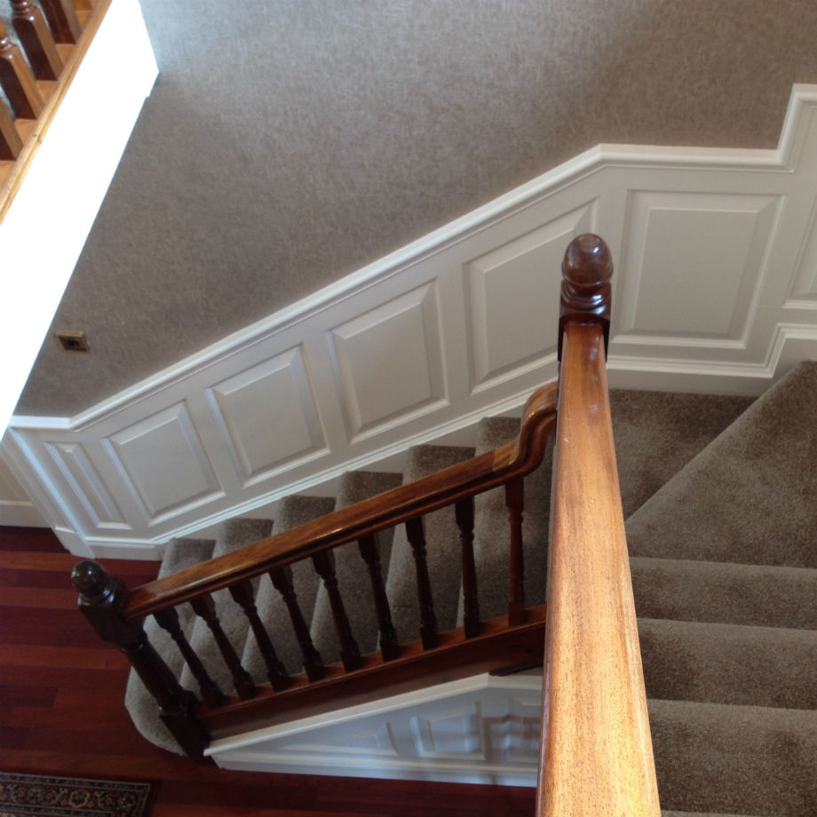 Raised Wall Panelling Kit For Stairs Long Tullyvin Wood Products Jpg  920x920 Raised Panels Stairs